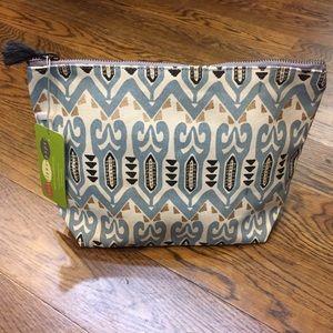 Handbags - Canvas zip-top pouch. NWT